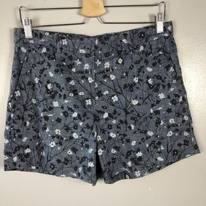 Gap Womens Shorts Blue Floral Print Size 4